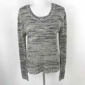 Jack by BB Dakota Gray Knit Crewneck Sweater